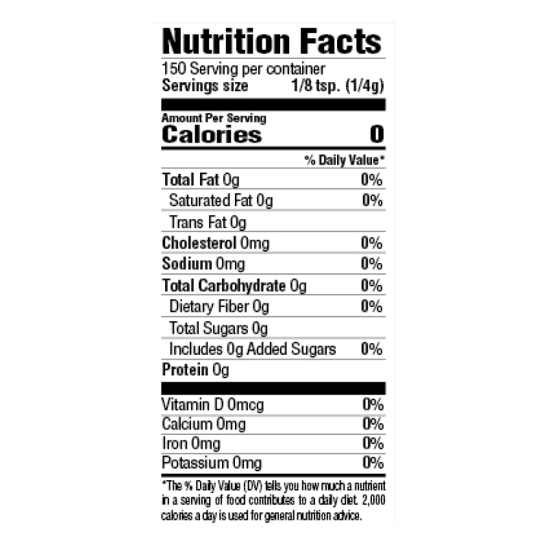 Gumbo File Nutrition Facts