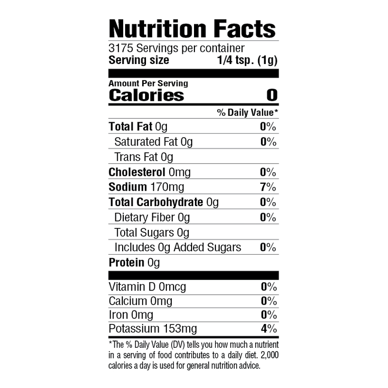 Lite Creole Seasoning Nutrition Facts
