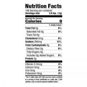 BOLD Seasoning Nutrition