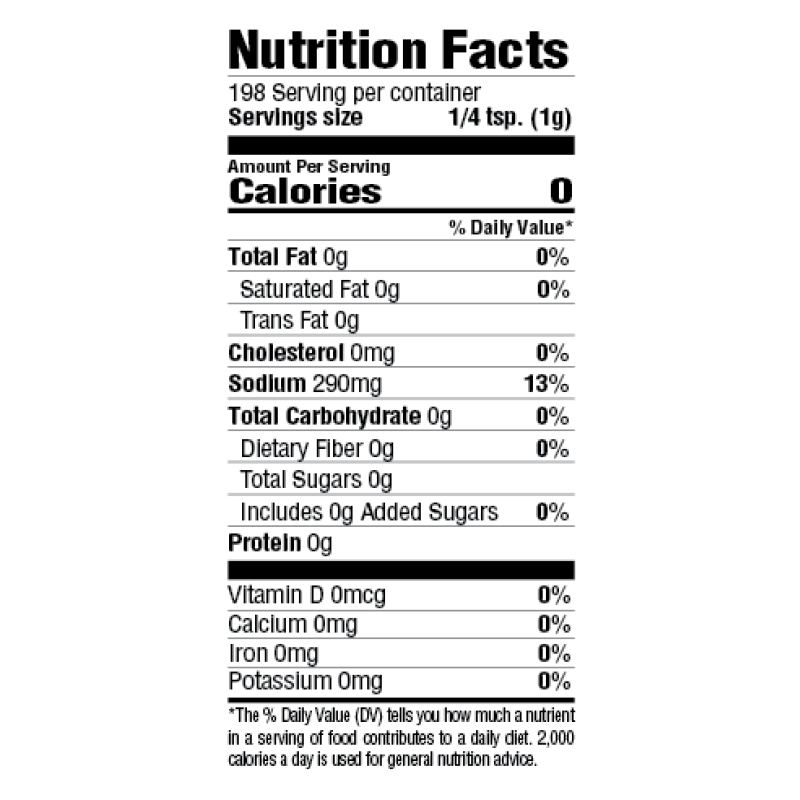 More Spice Seasoning Nutrition Facts