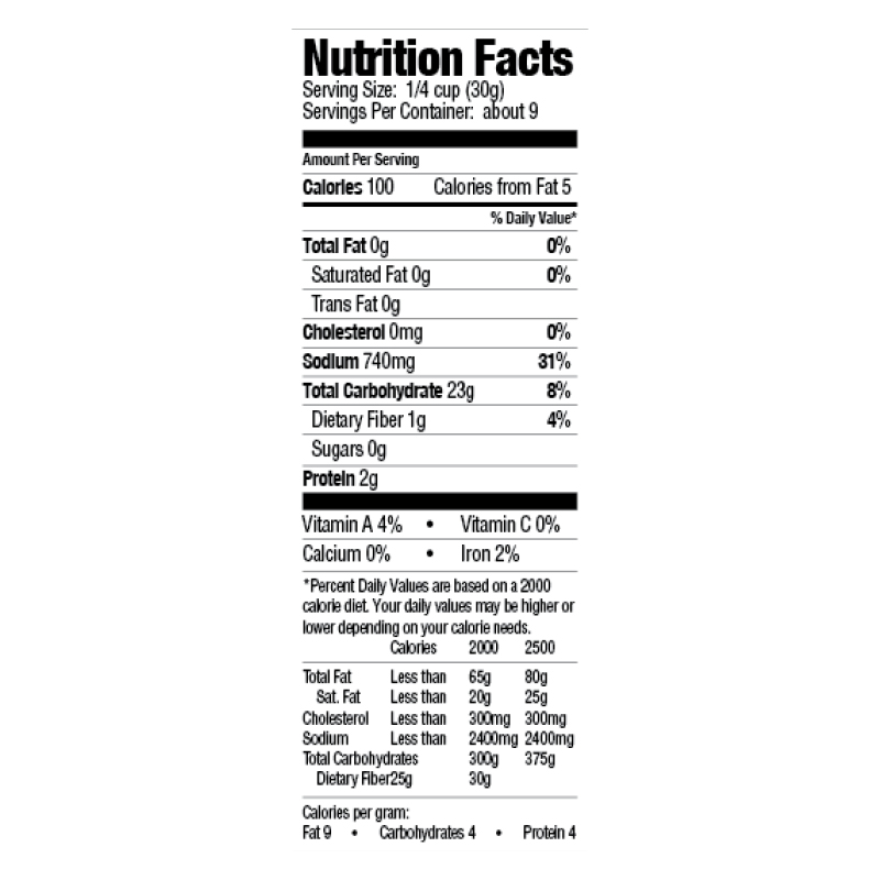 Seasoned Fish Fry Mix Nutrition Facts