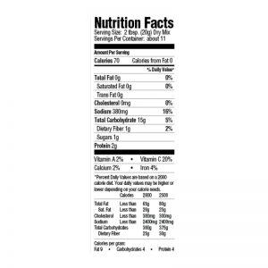Gumbo Dinner Mix Nutrition