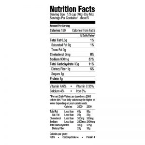 Dirty Rice Nutrition