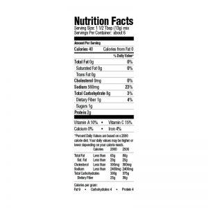 Étouffée Mix Nutrition
