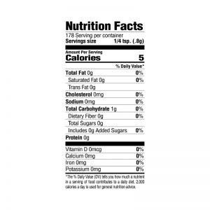 No Salt Seasoning Nutrition