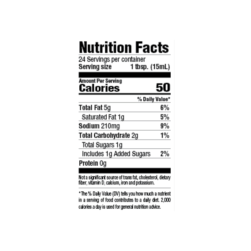 30-Minute Seafood Marinade Nutrition Facts