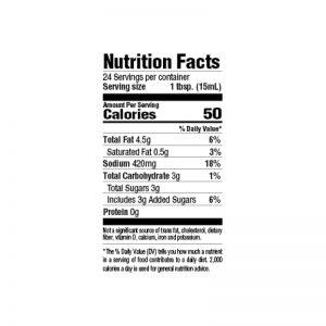 Steakhouse Marinade Nutrition