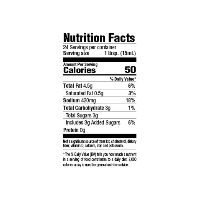 30-Minute Steakhouse Marinade Nutrition Facts