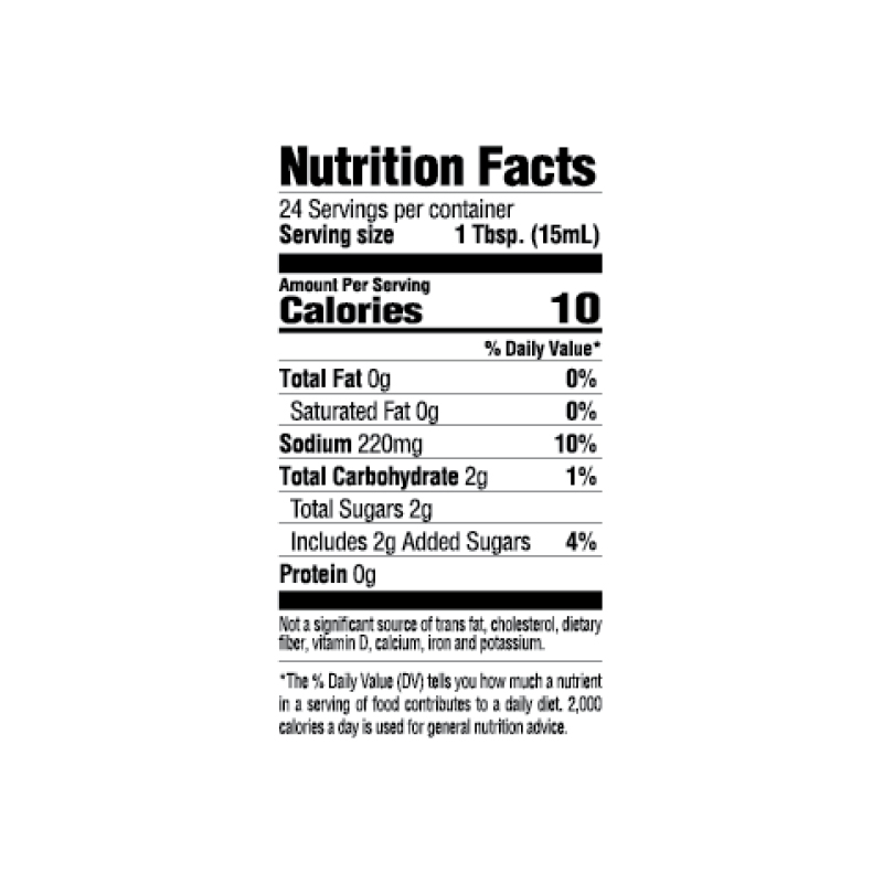 30-Minute Burger Marinade Nutrition Facts