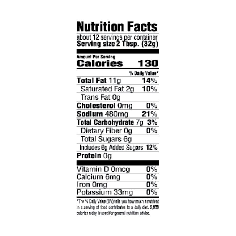 Creole-Style French Salad Dressing Nutrition Facts