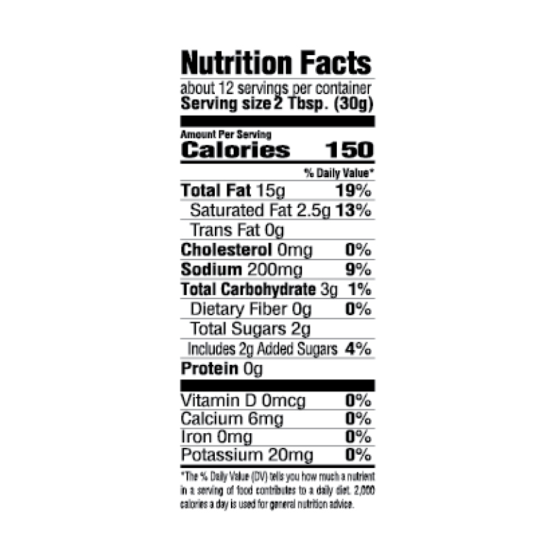Creole-Style Italian Salad Dressing Nutrition Facts