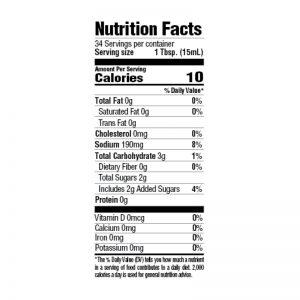 Roasted Garlic and Herb Marinade Nutrition