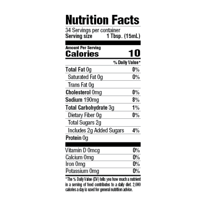 Roasted Garlic & Herb Marinade Nutrition Facts