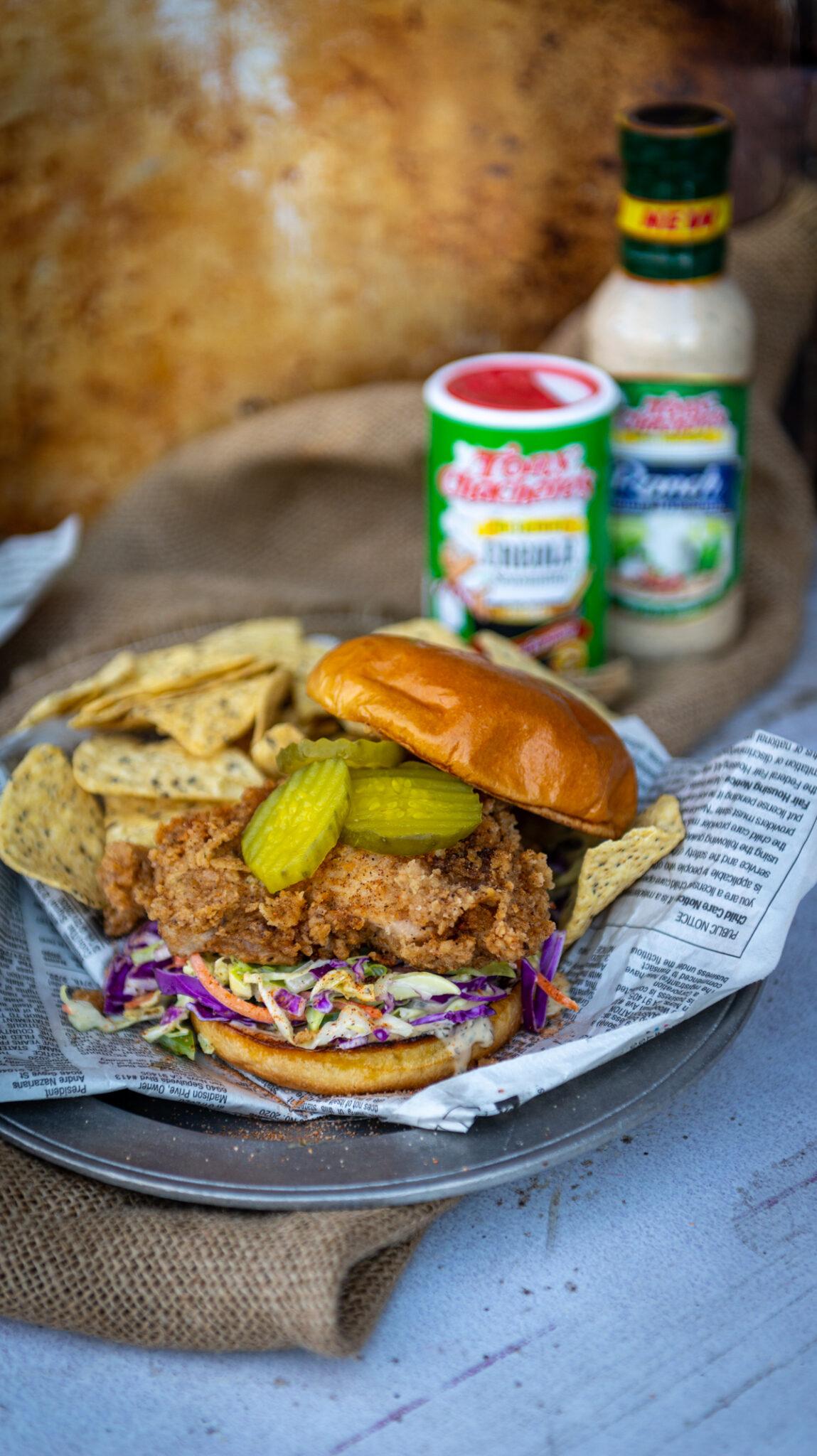 Cajun Fried Chicken Sandwich