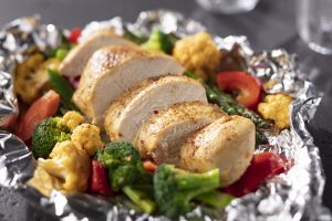 Easy Baked Chicken and Veggies Foil Pack