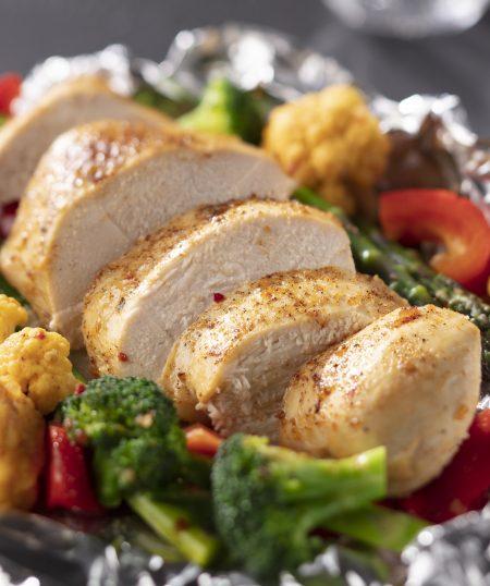 Easy Baked Chicken and Veggie Foil Packs