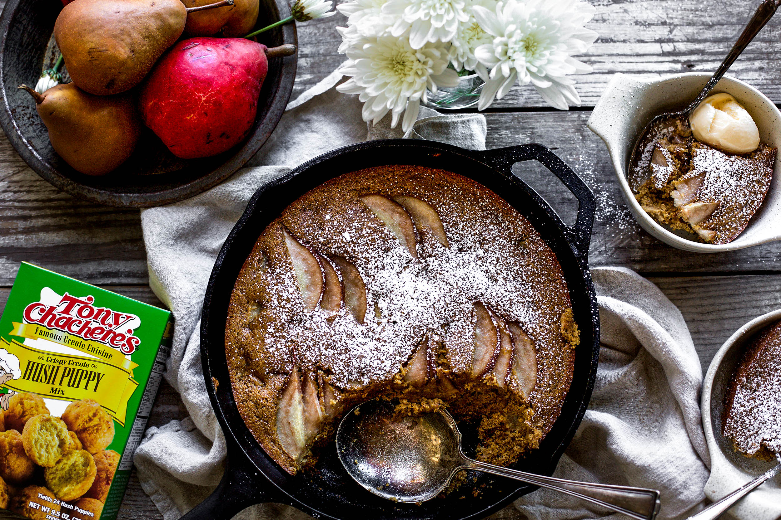 Spiced Pear Skillet Cake2