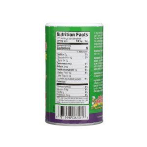 No Salt Nutrition Label