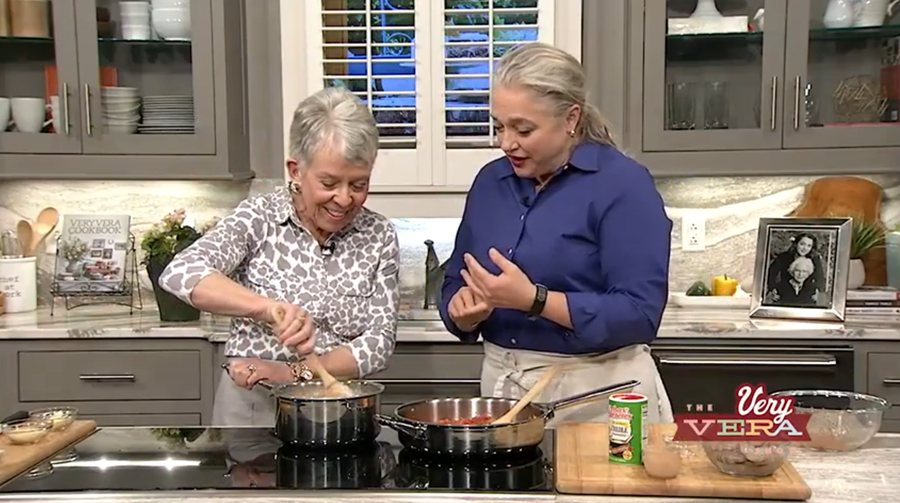 Low Country Shrimp and Grits with Stewed Tomatoes - The VeryVera Show Season 8 Episode 28