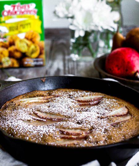 Spiced Pear Skillet Cake