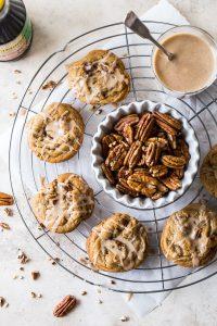 Brown Sugar Praline Cookies with Praline Cinnamon Glaze 2