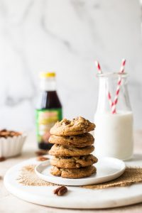 Brown Sugar Praline Cookies with Cinnamon Praline Glaze