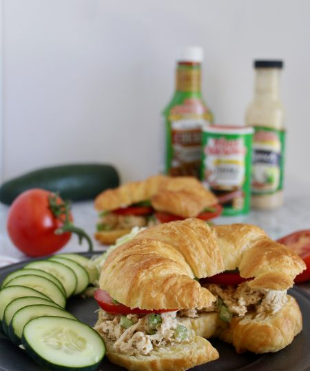 Shredded Chicken Salad Croissants