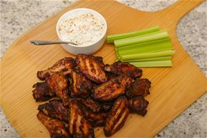 Smoked Wings with Bleu Cheese Dip