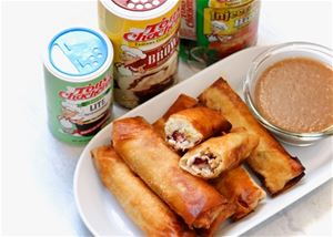 Thanksgiving Spring Rolls with Tony's Brown Gravy Dipping Sauce