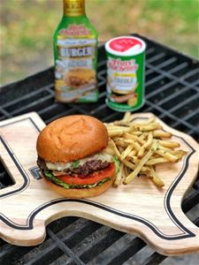 Calientte Burger with Creole Fries