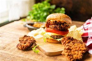 Panko Fried Oyster Bayou Burger