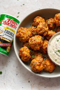 Creole Sausage Balls with Remoulade Dipping Sauce
