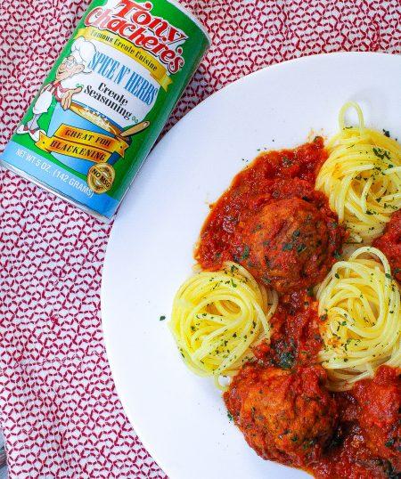 Spaghetti and Chicken Meatballs