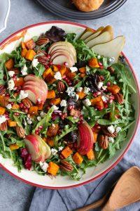 Autumn Salad with Seasoned Roasted Butternut Squash