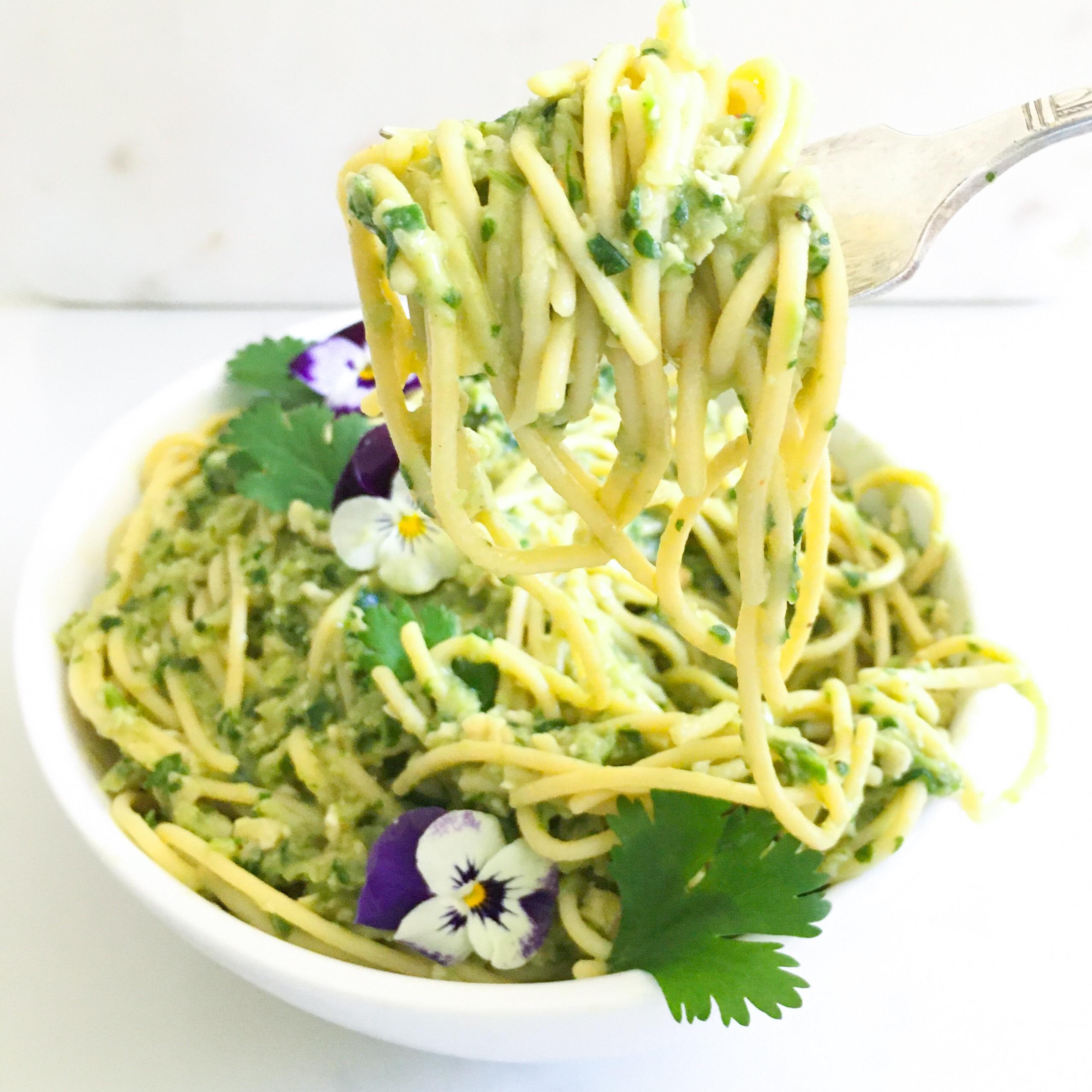 Green Power Mac & Cheese Spaghetti