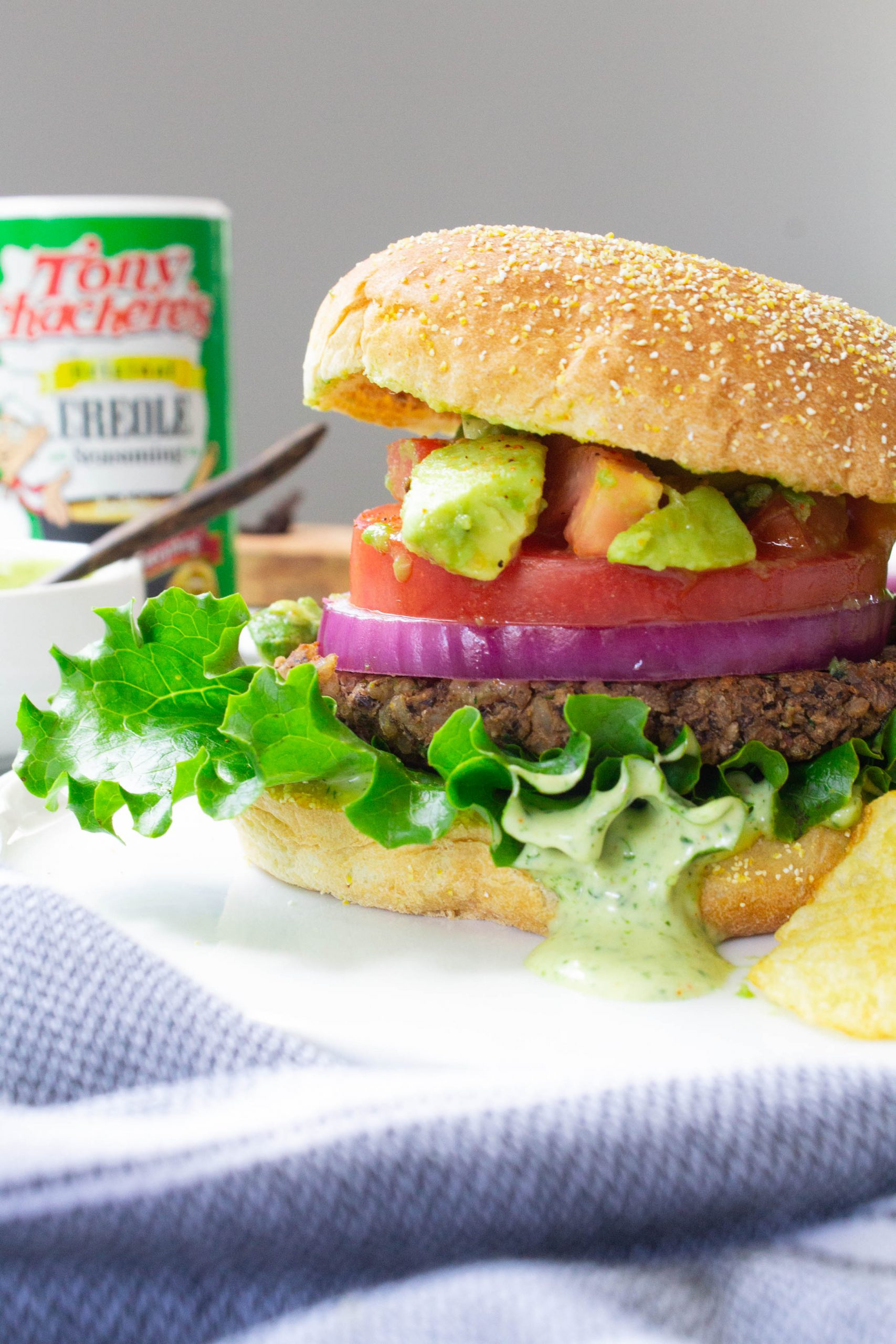 Vegan Cajun Black Bean Burgers