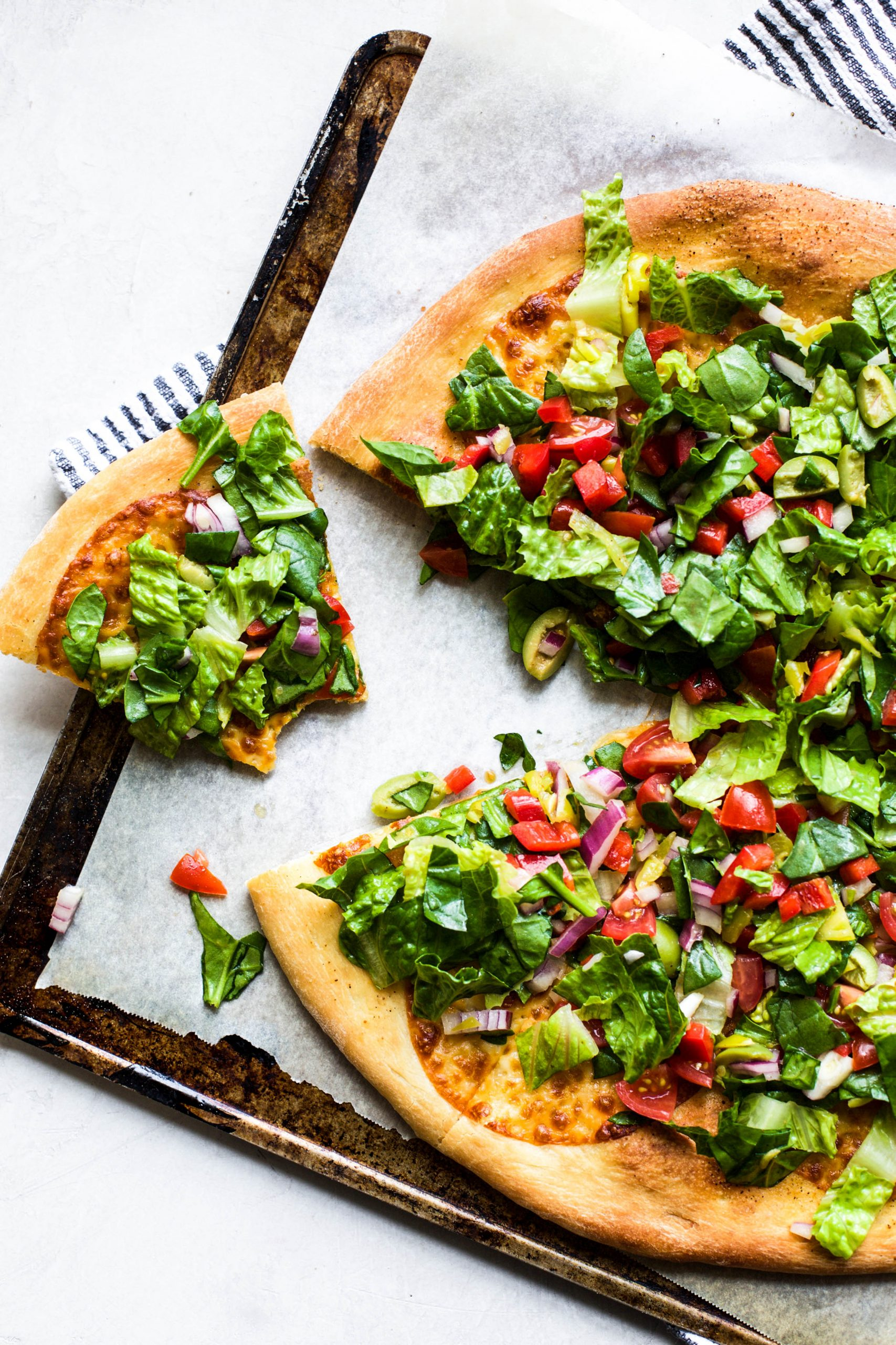 Chopped Salad Pizza