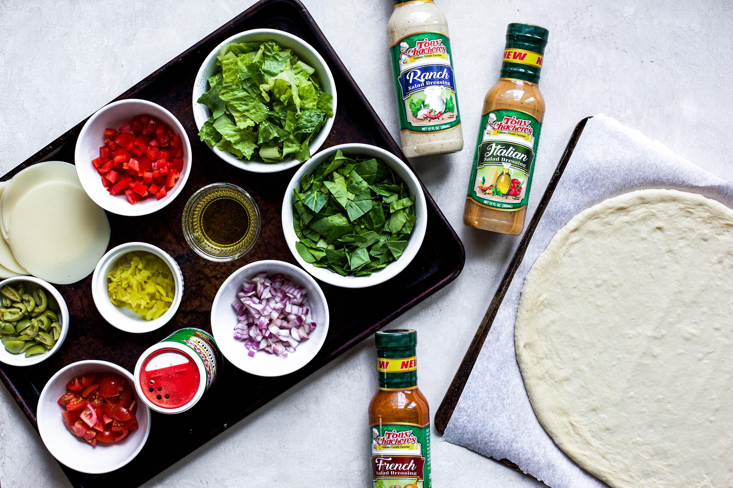 Chopped Salad Pizza 3