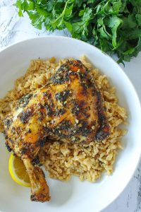 Chimichurri Chicken with Butter & Herb Rice