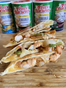 Easy Cajun Shrimp Quesadilla