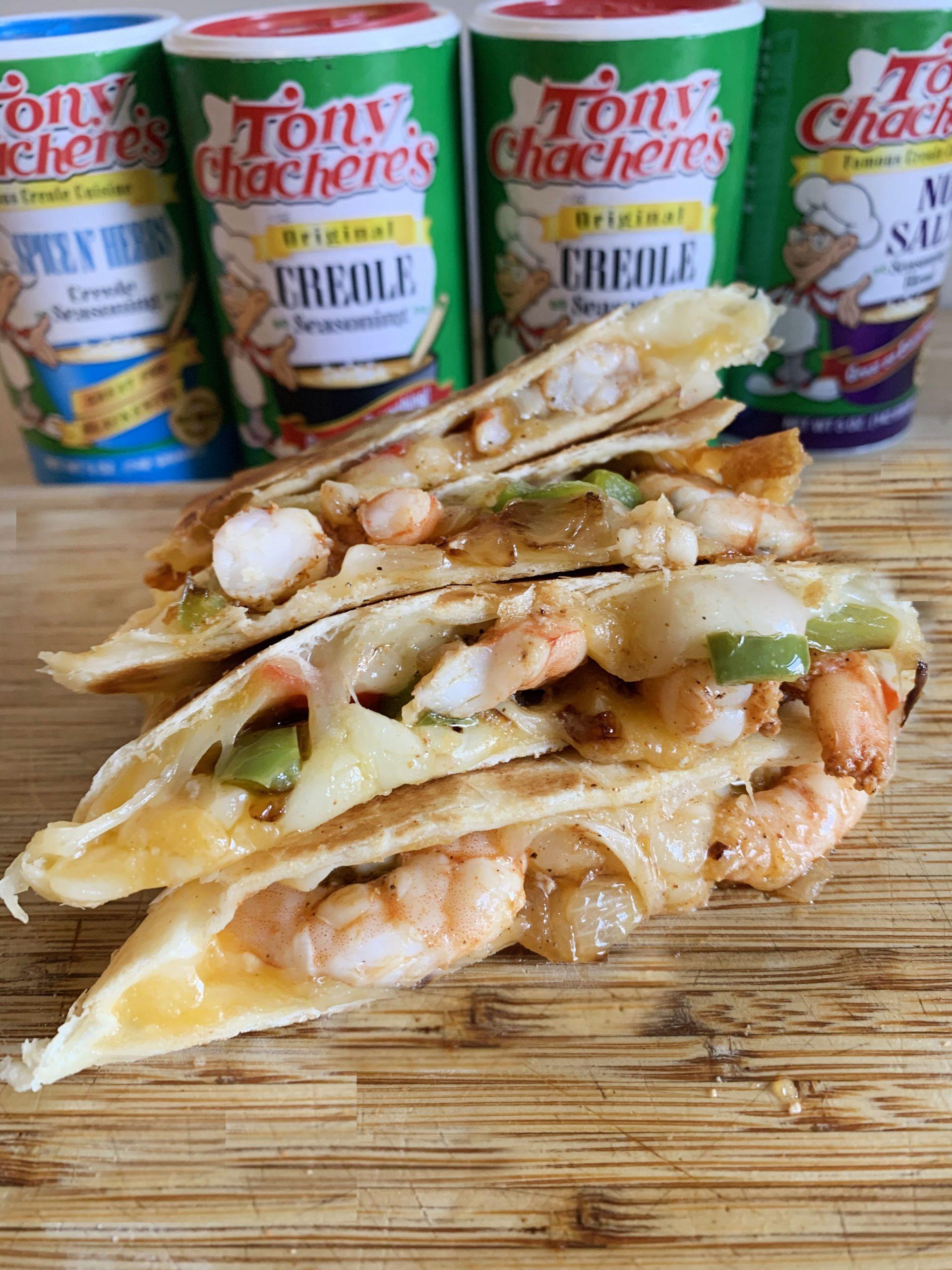 Easy Cajun Shrimp Quesadilla