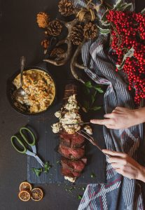 Smoked Beef Tenderloin with Smoked Crab Imperial