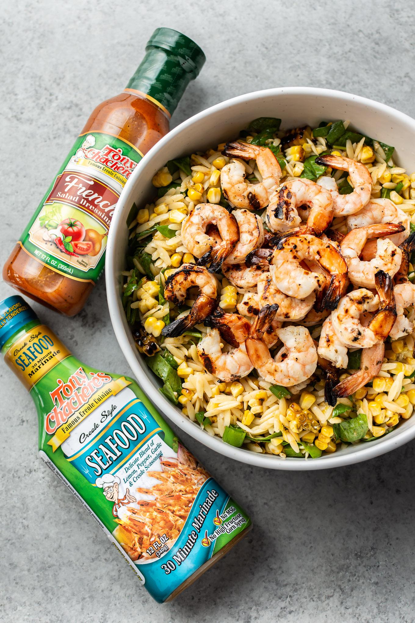 Cajun Grilled Shrimp and Orzo Salad