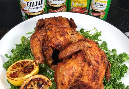 Creole Fried Cornish Hens