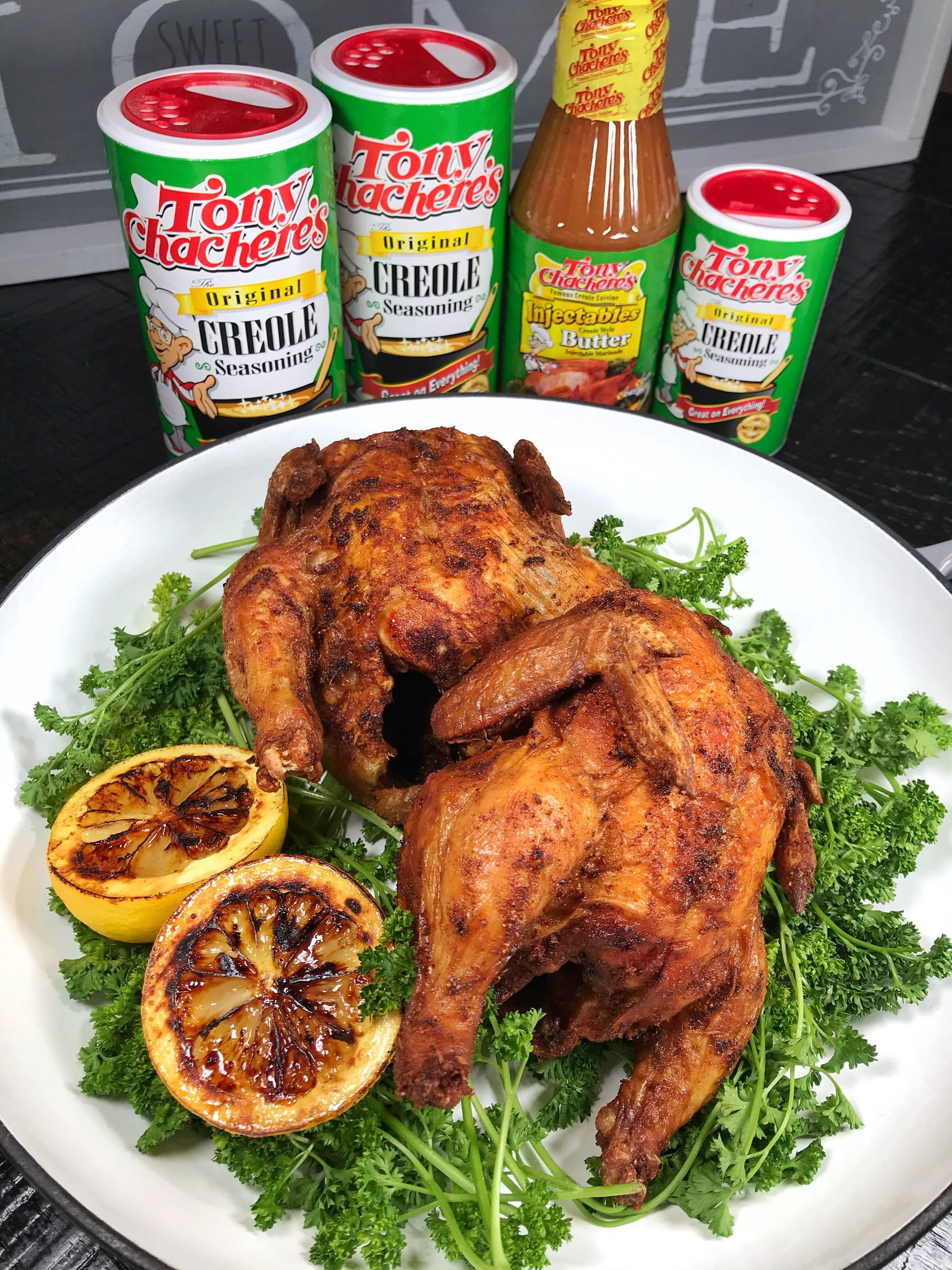 Creole Fried Cornish Hens