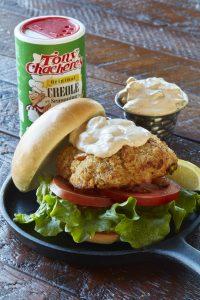 Salmon Burgers with Cajun Tartar Sauce