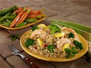 Broccoli and Shrimp Skillet Rice