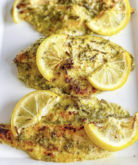 Broiled Catfish in Creole White Wine Sauce