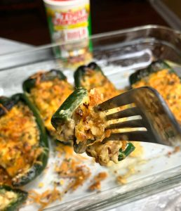 Cajun Shrimp Stuffed Poblano Peppers