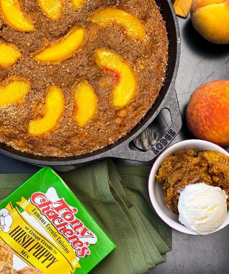 Spiced Peach Skillet Cake